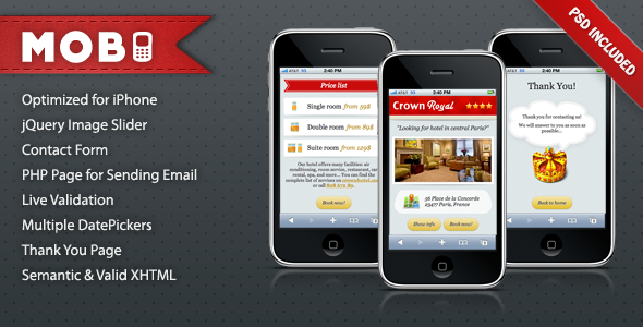 Free Download Mobi iPhone Landing Page Nulled Latest Version