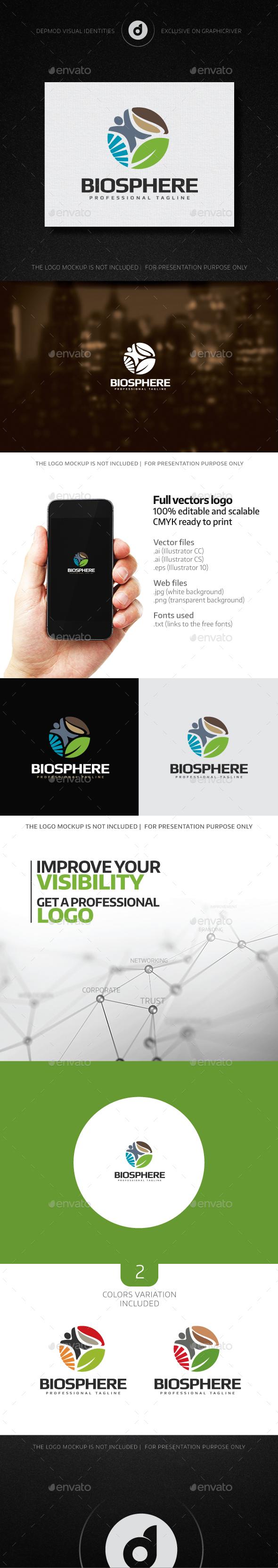 Biosphere Logo - Nature Logo Templates