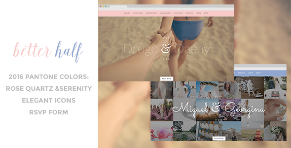 Better Half - Responsive Wedding HTML Template - Wedding Site Templates