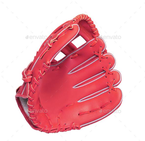 leather baseball glove - Stock Photo - Images