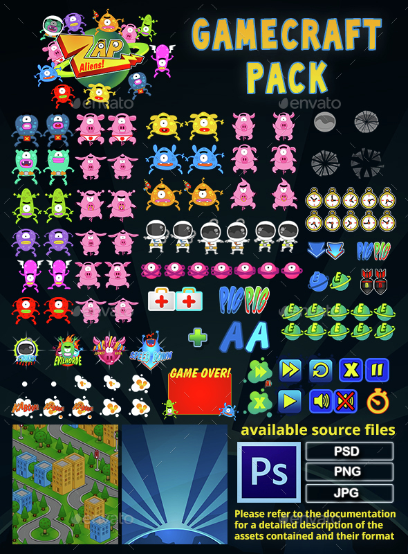 Zap Aliens - Game Assets - Game Assets