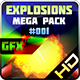 Explosions Blasts Bursts Detonations MEGA PACK 01 - GraphicRiver Item for Sale