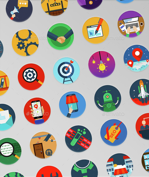 35 Seo Modern Icons  - Business Icons