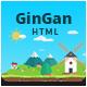 GinGan - Bootstrap Landing Page Template