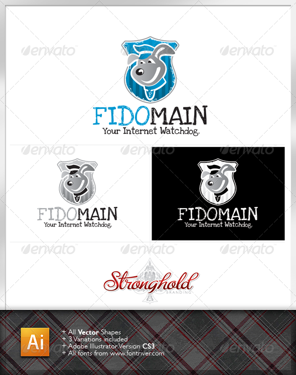 Internet Security Dog Logo - Animals Logo Templates