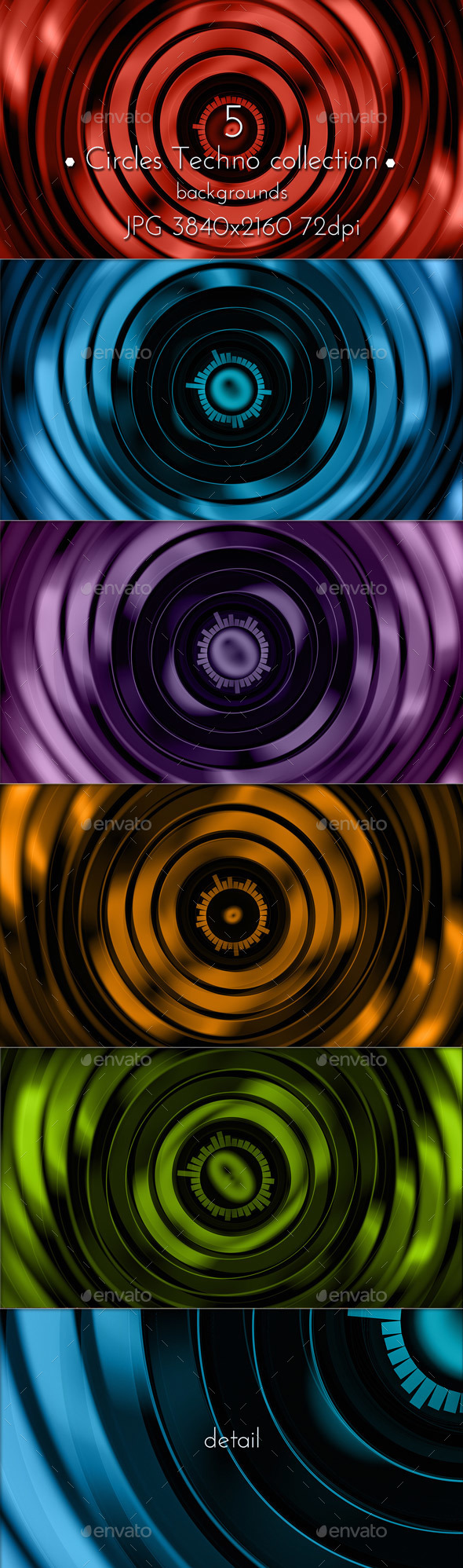 Circles Techno Background - Tech / Futuristic Backgrounds