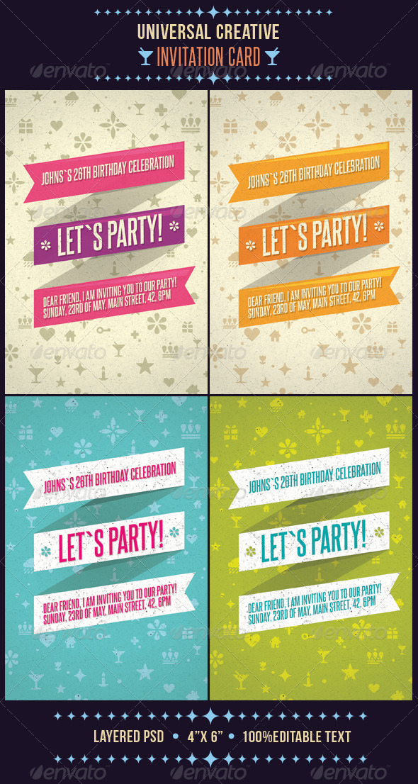 Universal Creative Invitation Card - Invitations Cards & Invites