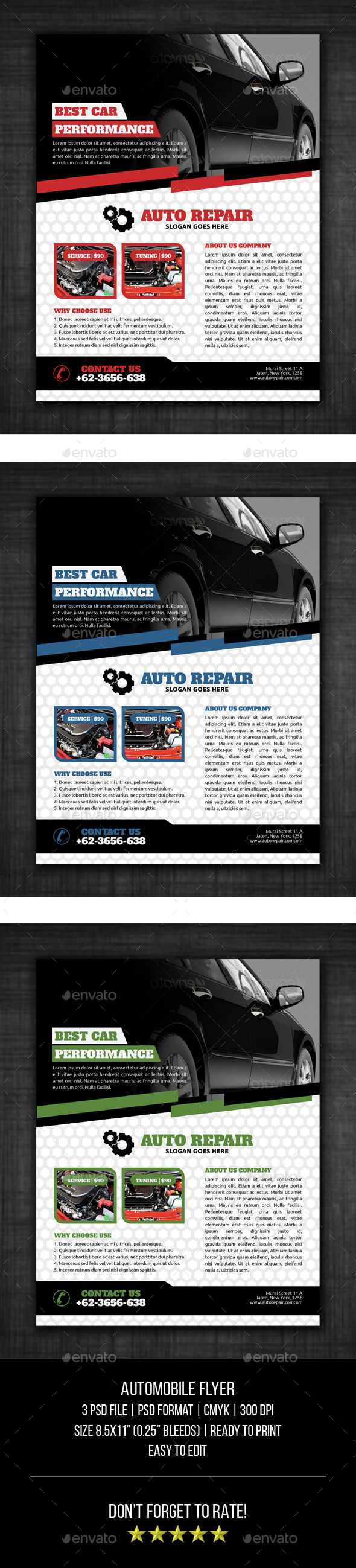 Automobile Flyer Template - Corporate Flyers