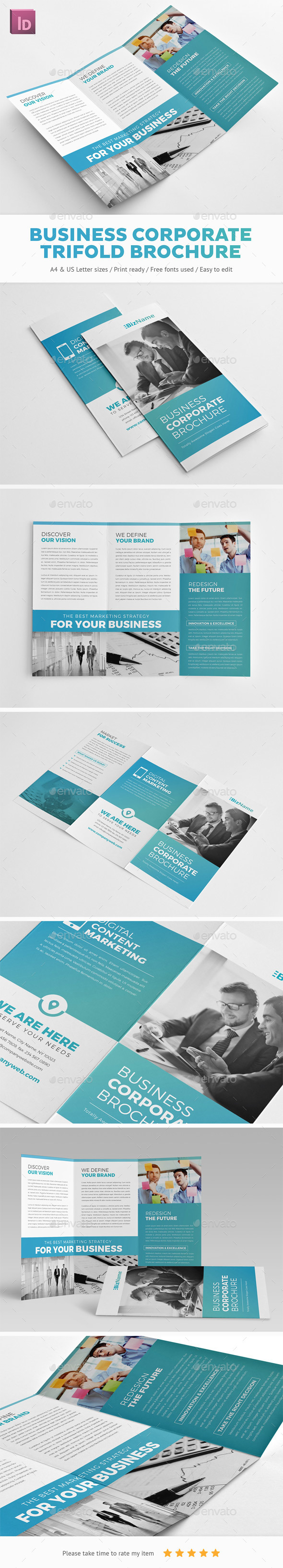 Business Corporate Trifold Brochure - Corporate Brochures