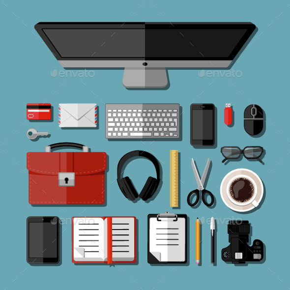 Modern Business Office Workplace - Concepts Business