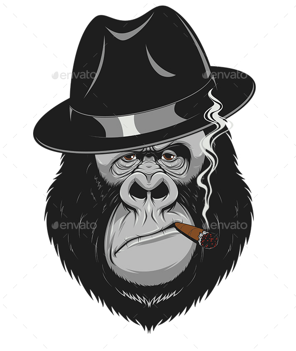 Monkey Gangster - Animals Characters