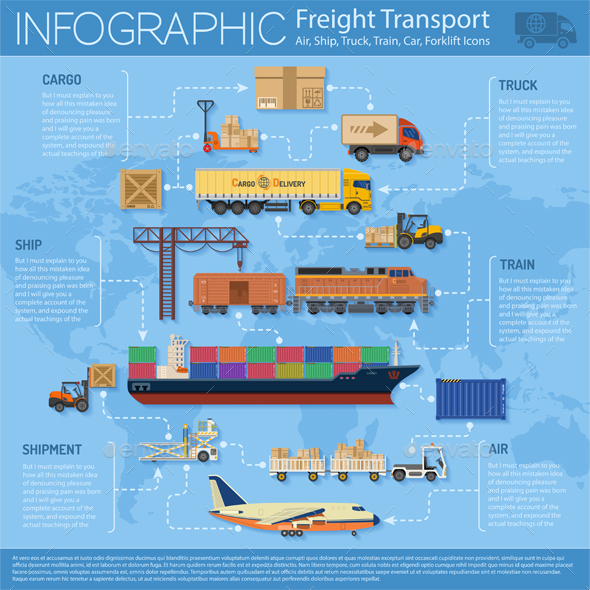 Freight Transport Infographics - Industries Business