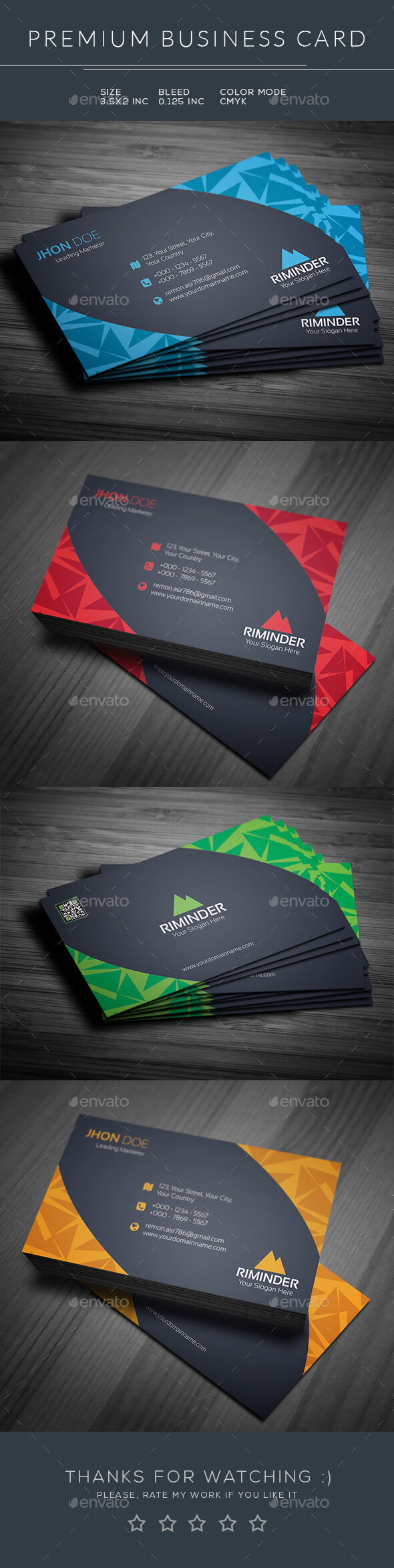 Abstract Business Card - Business Cards Print Templates
