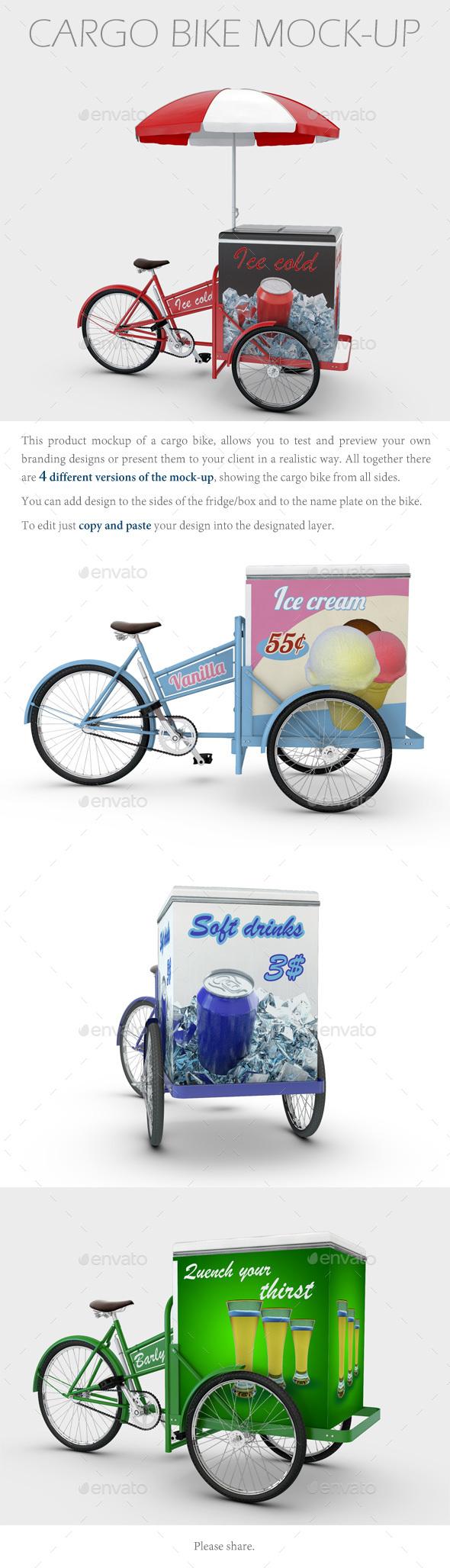 Cargo Bike Mock-Up - Product Mock-Ups Graphics