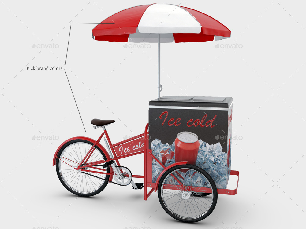 Cargo Bike Mock Up By Sanchi477 Graphicriver