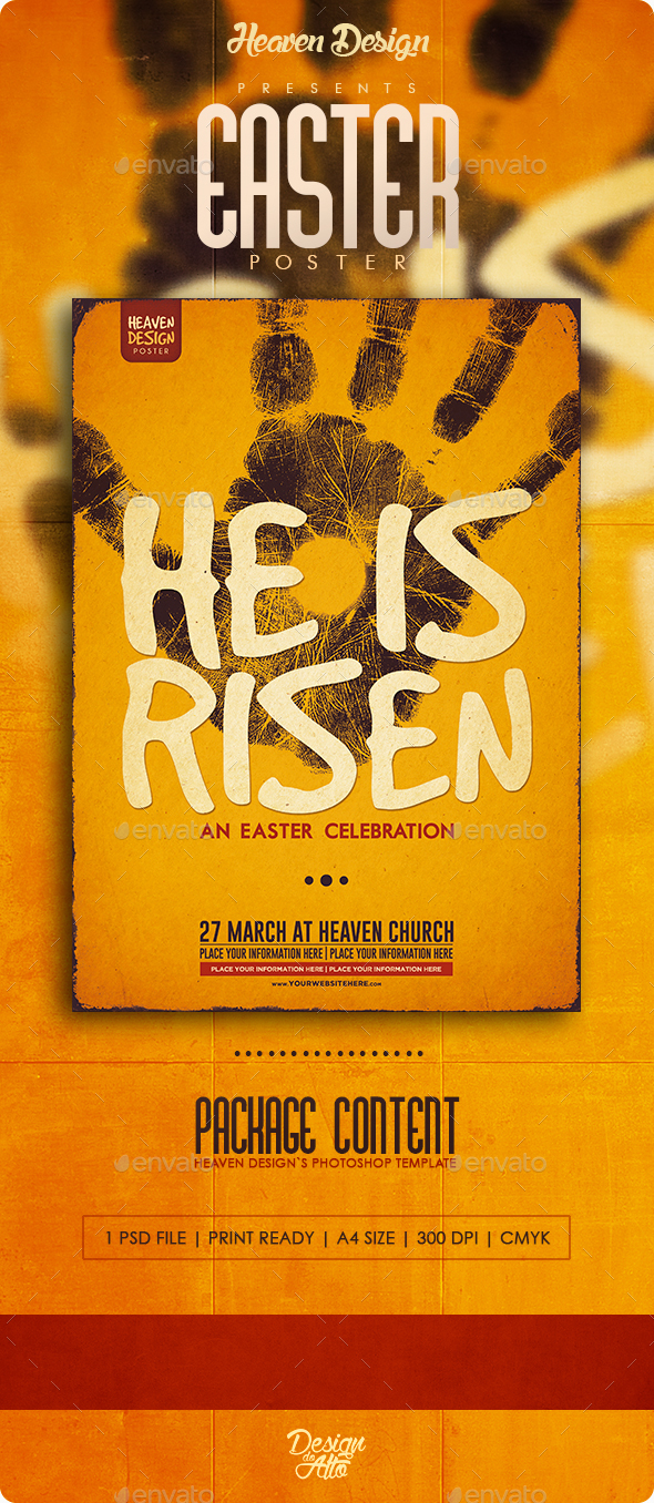 He Is Risen | Poster - Events Flyers