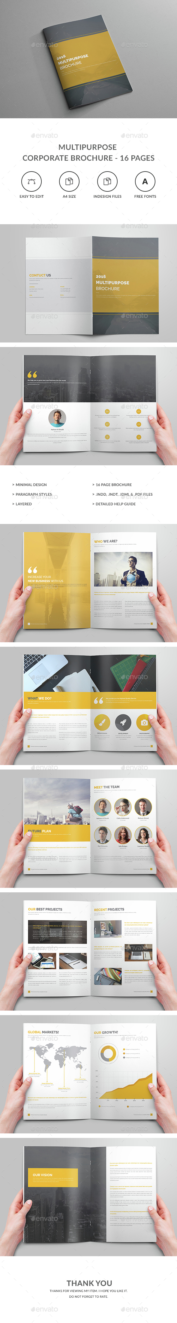 Multipurpose Brochure – 16 Pages - Corporate Brochures