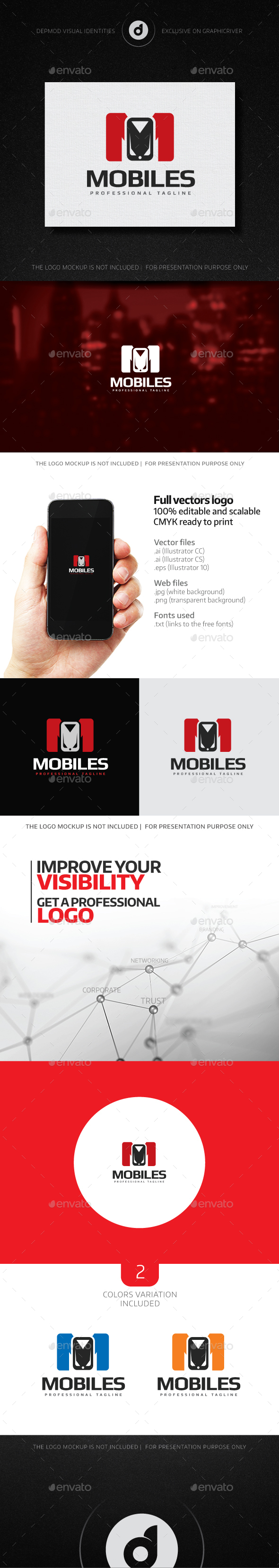 Mobiles Logo - Letters Logo Templates