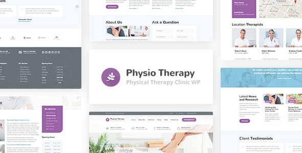 Physio - Physical Therapy & Medical Clinic WP Theme - Health & Beauty Retail