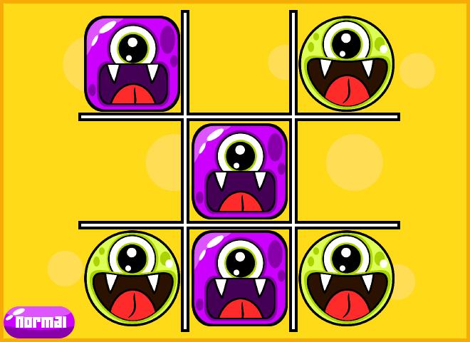 Cute Monsters tic tac toe html5 game by NubiaStudio ...