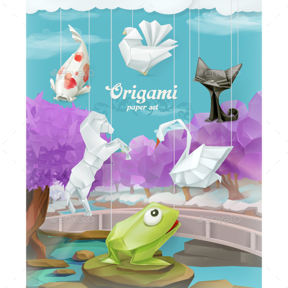 Origami Paper Animals - Miscellaneous Vectors