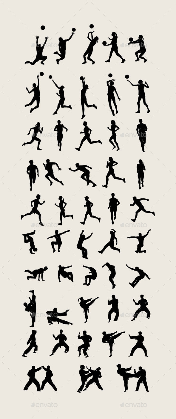 Sports Silhouettes - Sports/Activity Conceptual