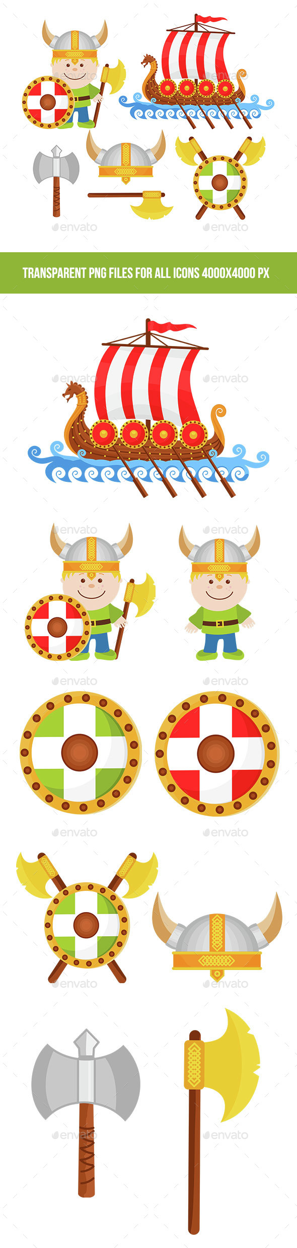 Viking Illustrations - Miscellaneous Vectors