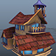 House Model 5 - (fablesalive game asset) - 3DOcean Item for Sale
