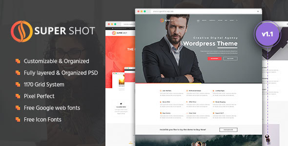 SuperShot | Creative PSD Template - Portfolio Creative