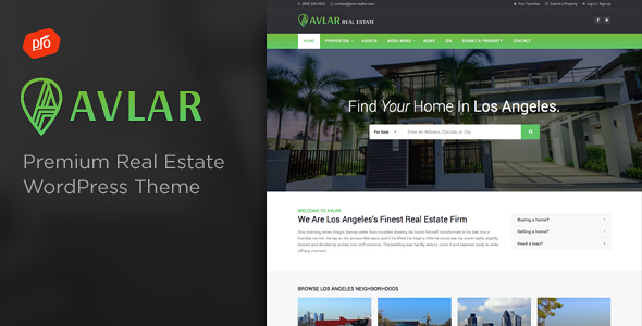 Avlar – Real Estate Theme