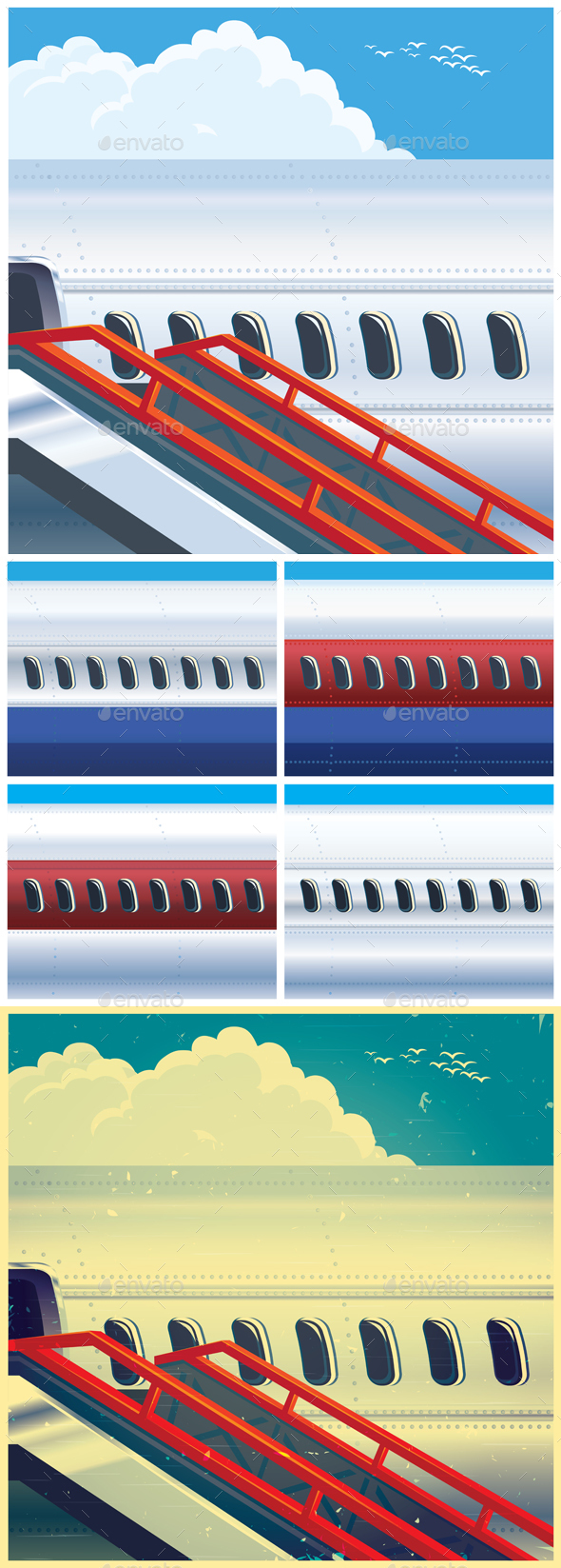 Jet Airliner Mini Set - Travel Conceptual