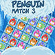 Penguin Match 3 - HTML5 game (Construct 2 CAPX)
