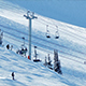 Ski Lift On Sunny Mountainside - VideoHive Item for Sale