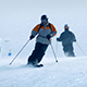 Skiers On Fresh Powder Slope - VideoHive Item for Sale