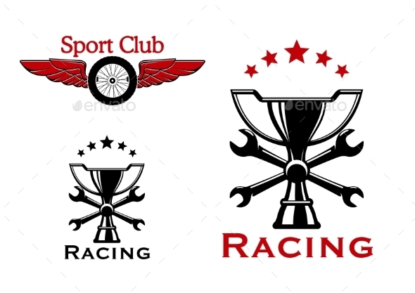 Racing And Motorsport Symbols Or Icons - Sports/Activity Conceptual