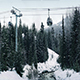 Pan Up From River To Ski Lift - VideoHive Item for Sale