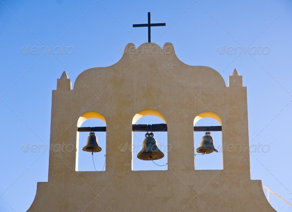 Three bells and a cross - Stock Photo - Images