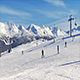 Ski Run With Many Skiers On Sunny Day - VideoHive Item for Sale