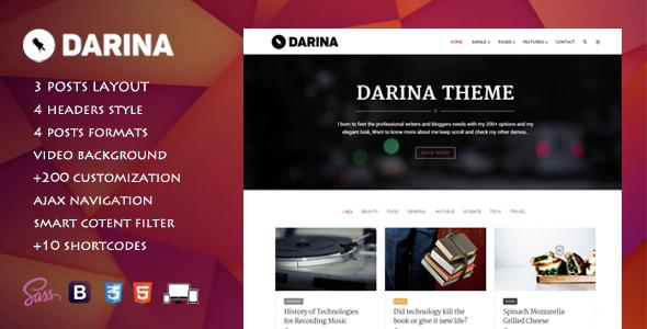 Darina – Elegant Minimal Blog Theme