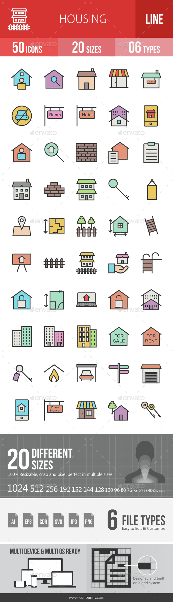 Housing Filled Line Icons - Icons