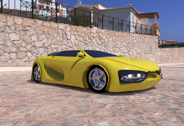 Random Sport Car Concept - 3DOcean Item for Sale