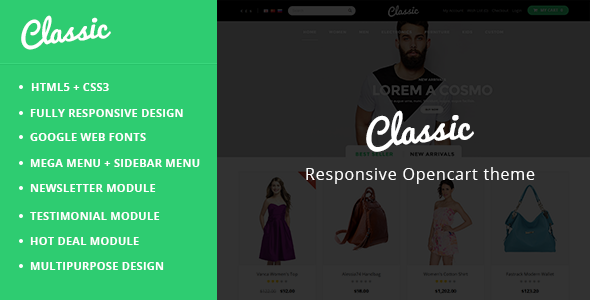 Classic – Responsive OpenCart Theme