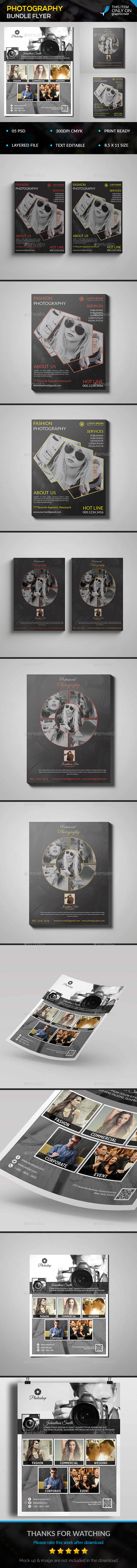 Photography Flyer Bundle - Flyers Print Templates