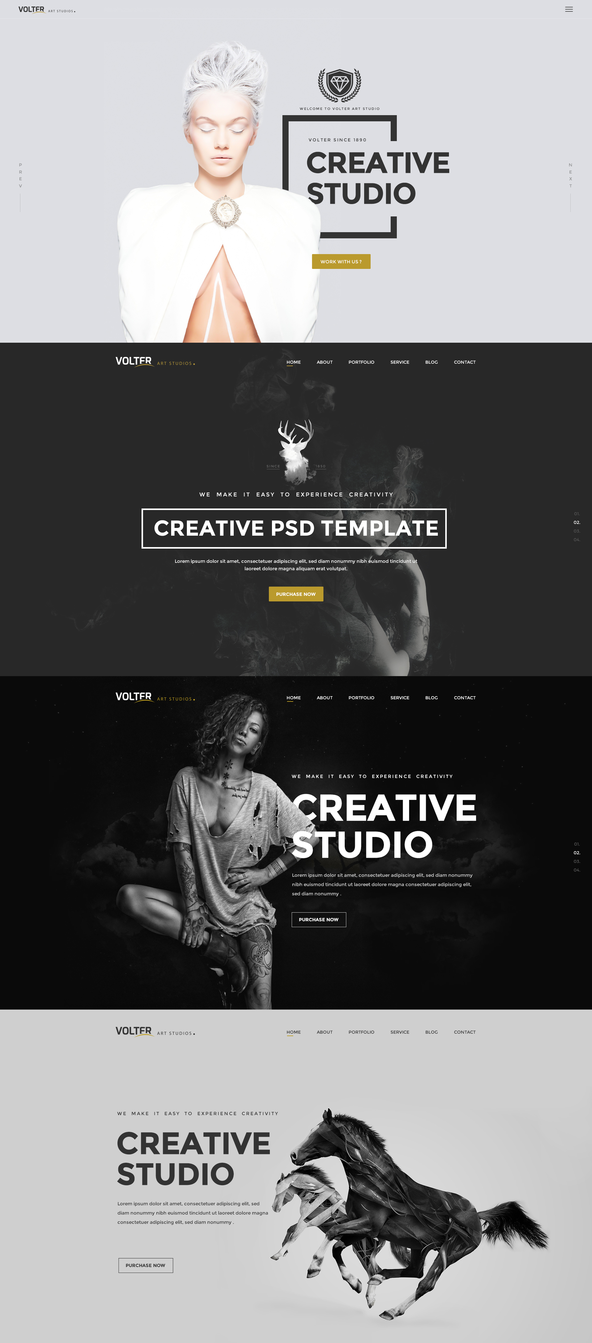 Volter - Creative PSD Template by youwes | ThemeForest