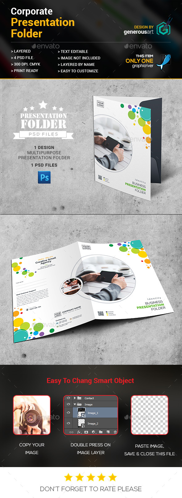 Colour Presentation Folder - Stationery Print Templates