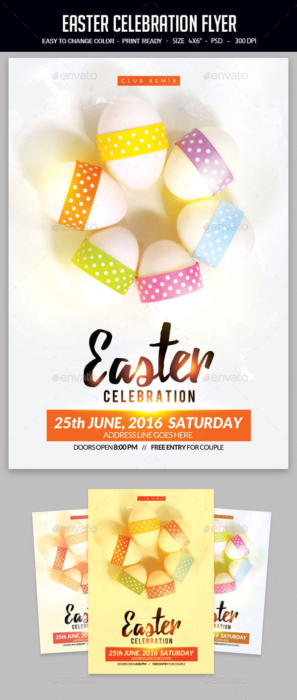Easter Celebration Flyer - Clubs & Parties Events