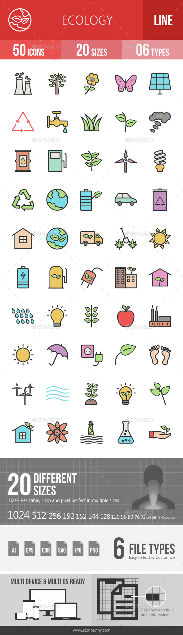 Ecology Filled Line Icons - Icons