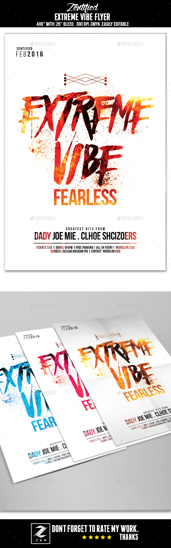Extreme Vibe Flyer - Events Flyers