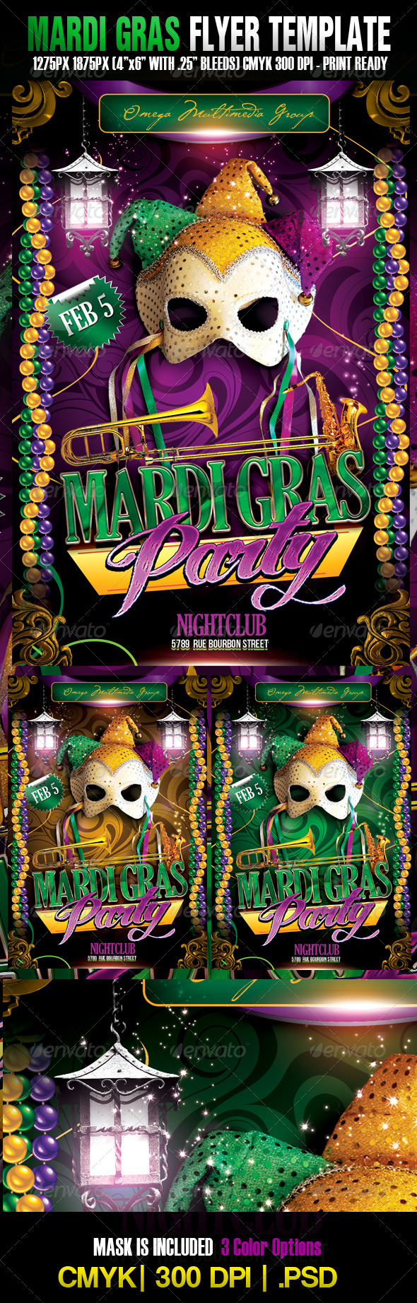 The Mardi Gras Template  - Holidays Events