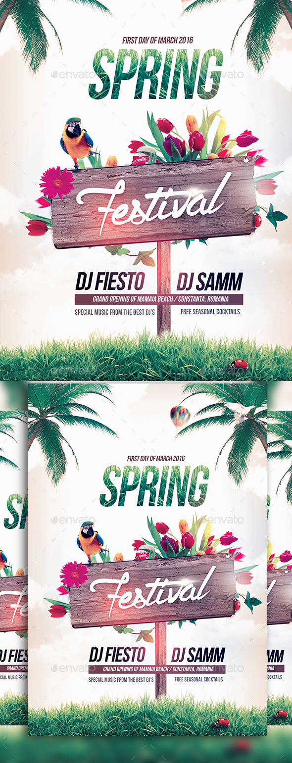 The Spring Festival - Events Flyers